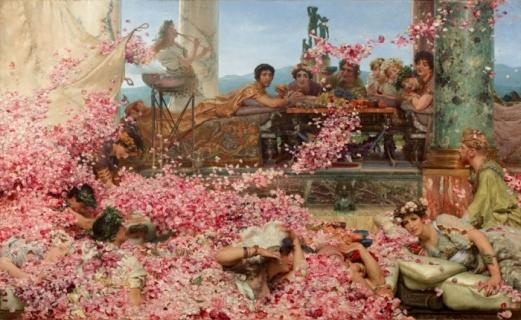 Sir Lawrence Alma-Tadema, Les Roses d'Héliogabale, 1888, huile sur toile, 132,7 x 214,4 cm.