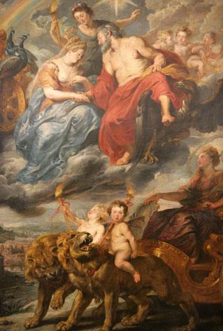 Pierre-Paul Rubens, l'Arrivée de la reine à Lyon, 1621, Paris, musée du Louvre