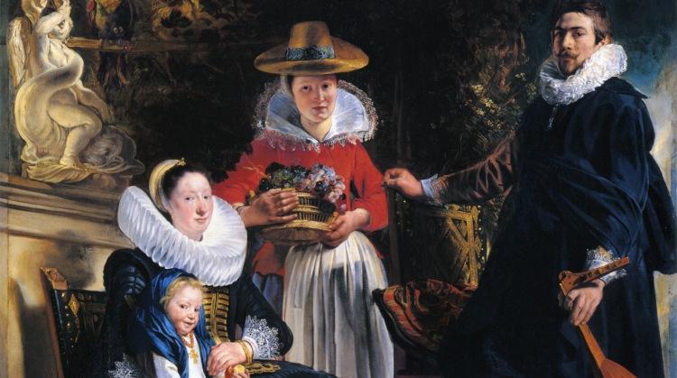 Jacob Jordaens - Autoportrait avec sa femme et sa fille Elisabeth, 1621-1622, museo del Prado, Madrid