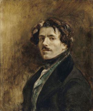 Eugène Delacroix, Portrait de l'artiste, vers 1837, musée du Louvre, Paris.  © RMN / Jean-Gilles Berizzi