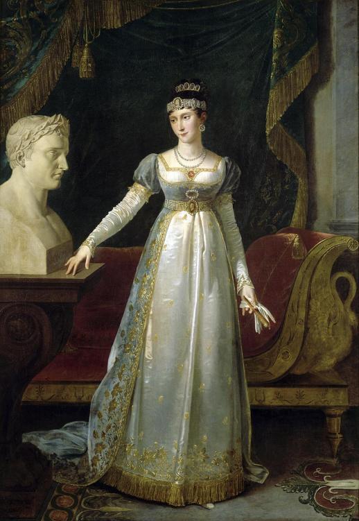 Robert Lefèvre, Pauline Bonaparte, princesse Borghèse, 1809, huile sur toile, 65 x 54 cm, Coll musée nationale des châteaux de Malmaison et du Bois-Préau, Rueil-Malmaison.
