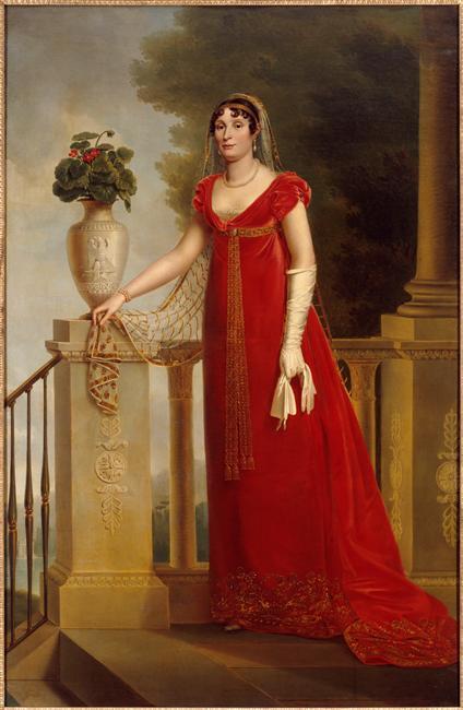 François-Joseph Kinson, Portrait d'Élisa Baciocchi, XIXe siècle, huile sur toile, 217 x 142 cm, coll. Château de Fontainebleau.