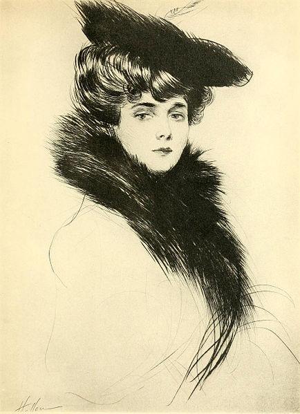 Paul César Helleu, Portrait de Madame Chéruit, 1901, Bibliothèque nationale de France, Paris.