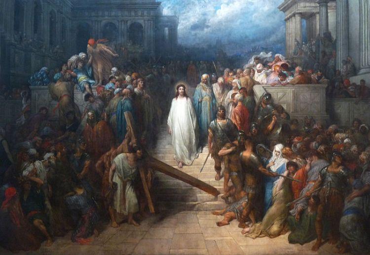 Gustave Doré, Le Christ quittant le prétoire, 1874-80, huile sur toile, 482 x 722 cm., Nantes, Musée des Beaux-Arts.