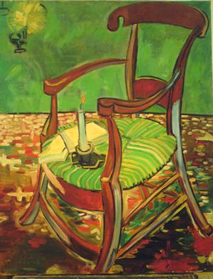 Vincent Van Gogh, Le Fauteuil de Gauguin, Arles, novembre 1888, huile sur toile, H. : 90,5 cm. ; L. : 72,5 cm. Collection & © Van Gogh Museum (Fondation Vincent Van Gogh), Amsterdam.