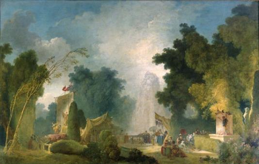 Jean-Honoré Fragonard, La Fête à Saint-Cloud, huile sur toile, vers 1775-1780, H. : 211 cm. ; L. : 331 cm., Paris, Banque de France. © RMN-Grand Palais / Gérard Blot.