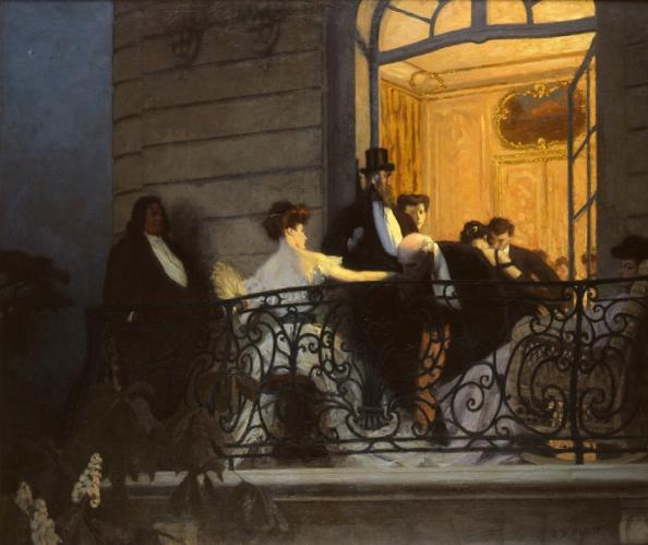 René françois xavier prinet le balcon 1905 1906 musée des beaux