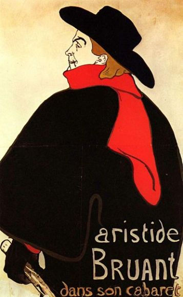 Toulouse-Lautrec, Portrait d'Aristide Bruant.