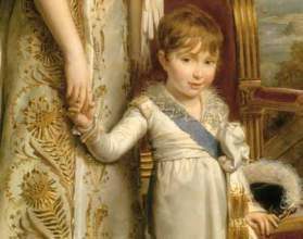 François Gérard (1770-1837),  Hortense, reine de Hollande avec le Prince royal de Hollande (détail), © RMN-GP / Gérard Blot