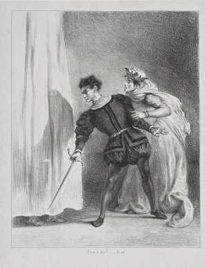 Eugène Delacroix, Le meurtre de Polonius (Acte III, scène 4). © RMN-Grand Palais (Louvre) / Droits réservés