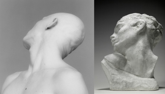 Robert Mapplethorpe, Robert Sherman (1983) / Auguste Rodin, Tête de la luxure (1907)