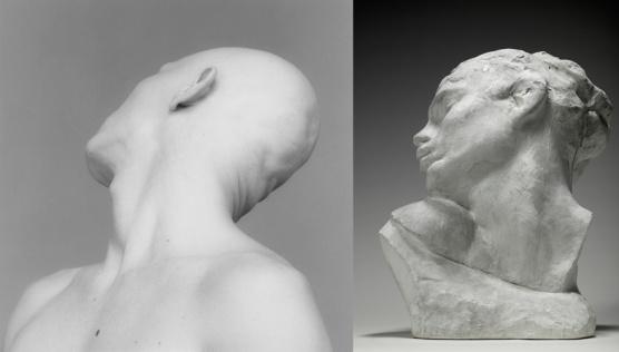 Robert Mapplethorpe, Robert Sherman (1983) / Auguste Rodin, Tête de la luxure (1907)