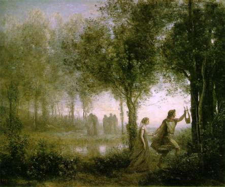 Orphée et Eurydice de Corot