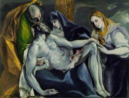 El Greco, Pietà, huile sur toile, 1592, H. : 120 ; L. : 145 cm., coll. part.