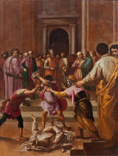 Eugenio Cajés (1575-1634), Le Martyre de saint Jacques le Mineur, 1627, huile sur toile, H. : 167 ; L. : 128 cm., Paris, musée du Louvre. © Musée du Louvre.