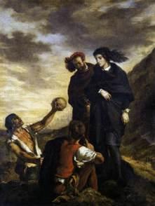 Delacroix, Hamlet et Horatio au cimetière Huile sur toile 260 x 165  Musée du Louvre, Paris