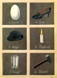 Magritte, La clef de songes, huile sur toile, 1930-1935