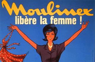 Affiche publicitaire Moulinex, Années 1950, Stéréotype de la femme ménagère