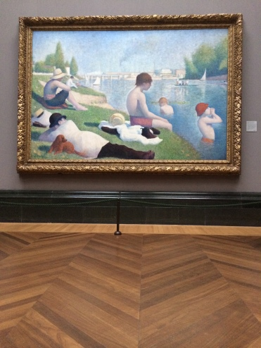 Georges Seurat, Une baignade à Asnières, 1884. National Gallery. © Damien Tellas.
