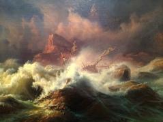 Mon coup de cœur du Victoria & Albert museum. Knud Andreassen Baade, The Wreck, 1830-1840, Londres, Victoria and Albert museum. © Damien Tellas.