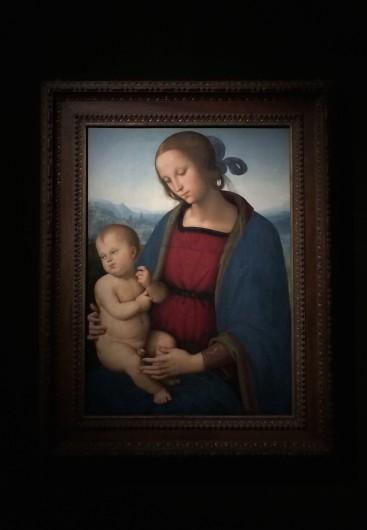 Le Pérugin, Vierge à l'Enfant, 1500, huile sur bois, 70,2 x 50 cm Washington, National Gallery of Art, Samuel H. Kress Collection © Damien Tellas