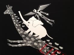 LIFE (détail) (Affiche pour le Museum of Modern Art, Toyama) Directeur Artistique/ Illustrateur : NAGAI Kazumasa