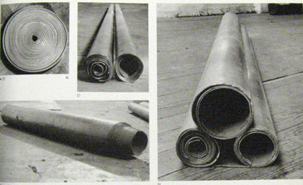 Richard Serra Lead Rolls including: Untitled: 21