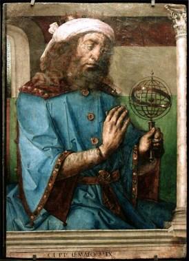 Juste de Gand, Ptolémée, huile sur bois. © Musée du Louvre/A. Dequier - M. Bard