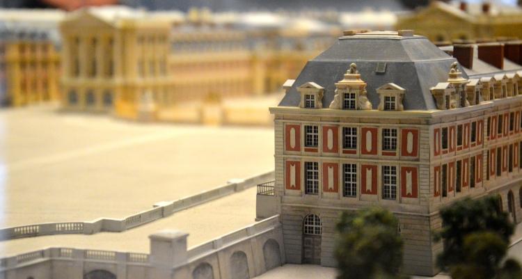 Maquette du dernier état du château de Versailles. © Damien Tellas