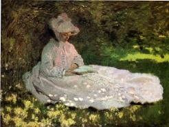 Claude Monet, la Liseuse, 1872, Baltimore, The Walters Art Museum
