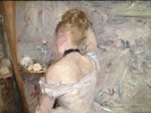 Berthe Morisot, Femme à sa toilette, 1875-80, Huile sur toile, 60,3x80,4cm, Chigago, The Art Institute of Chicago