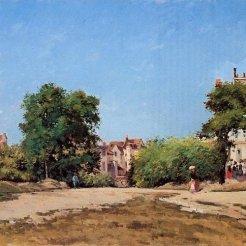 Camille Pissarro, Le Carrefour, Pontoise, ou Place du vieux cimetière, Pontoise, 1872, Pittsburgh, Carnegie Museum of Art