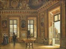Victor DUVAL ?, Vue de la galerie d'Apollon du Louvre, côté Seine, Paris, musée du Louvre.
