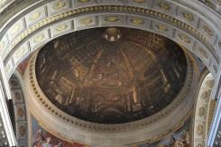 Andrea Pozzo, voûte en trompe l'oeil (sur toile plate) de l'église Saint-Ignace de Loyola, Rome, 1691-1694. © Damien Tellas