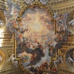 Gian Battista Gaulli : décor de la voûte de l'église du Gesù à Rome, 1672-1683. © Damien Tellas
