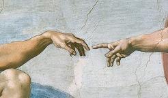 Détail de la Création d'Adam.