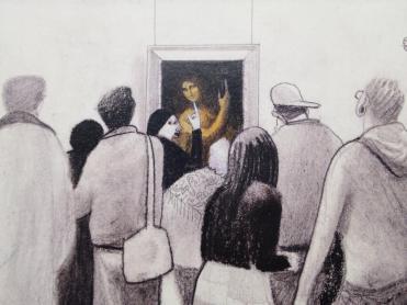 Devant le saint Jean-Baptiste