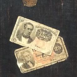 John Haberle, Petite monnaie, 1887, huile sur toile, Bentonville, Crystal Bridges Museum of American Art.