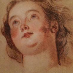 Charles de La Fosse, Tête de jeune fille regardant vers le ciel, Stockholm, Nationalmuseum.