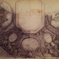 Charles de La Fosse, Projet de plafond, Paris, École nationale supérieure des beaux-arts.