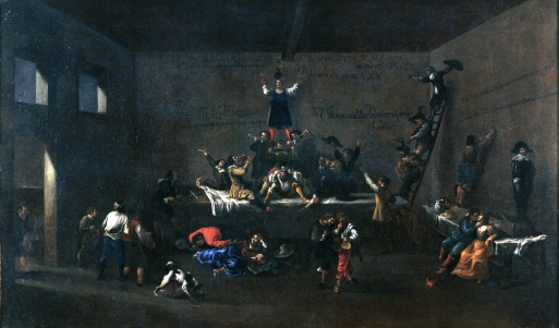 Roeland van Laer Les Bentvueghels dans une auberge romaine, 1626-1628 Huile sur toile, 88,5 x 147,5 cm © Roma Capitale – Sovrintendenza Capitolina ai Beni Culturali – Museo di Roma