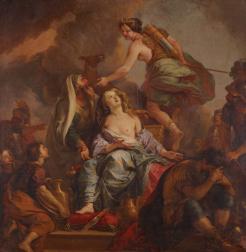 Charles de La Fosse, Le Sacrifice d'Iphigénie, 1680, Versailles, Musée national du Château.
