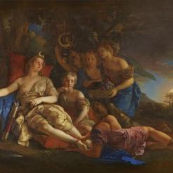 Charles de La Fosse, Le repos de Diane, 1688-1689, Versailles, Grand Trianon.