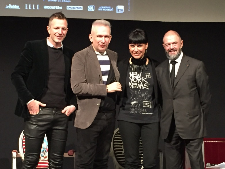 Thierry-Maxime Loriot, Jean-Paul Gaultier, Nathalie Bondil et Jean Paul Cluzel.