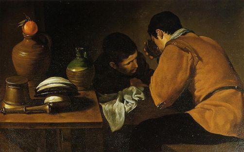 Velázquez, Deux jeunes à table, 1622, Apsley House, Londres
