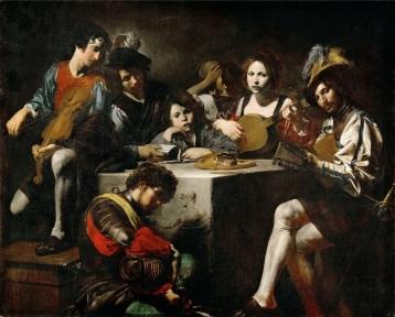 Valentin de Boulogne Le concert au bas-relief, vers 1620-1625 Huile sur toile, 173 x 214 cm © Musée du Louvre, Dist. RMN-Grand Palais / Matine Beck-Coppola