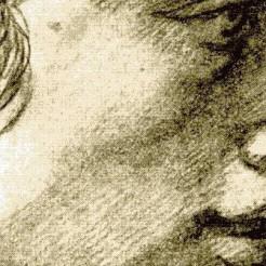 Raffaello Sanzio dit Raphael étude de têtes dessin119