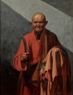 Jusepe de Ribera (1591 – 1652) , Saint Barthélémy, vers 1612, huile sur toile, 126 x 97 cm. Florence, Fondazione di Studi di Storia dell'Arte Roberto Longhi © Studio Sébert Photographes.