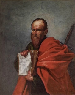 Jusepe Ribera (1591 – 1652), Saint Paul, vers 1612 : Huile sur toile 126 x 97 cm, Florence, Fondazione di Studi di Storia dell'Arte Roberto Longhi © Studio Sébert Photographes.