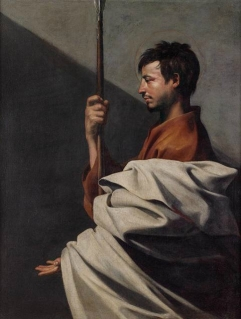 Jusepe Ribera (1591 – 1652), Saint Thomas, vers 1612 : Huile sur toile 126 x 97 cm Florence, Florence, Fondazione di Studi di Storia dell'Arte Roberto Longhi © Studio Sébert Photographes.